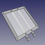 FreeCAD 3-D Ansicht Kennzeichenhalterkonstruktion