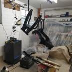lackieren in der Werkstatt...